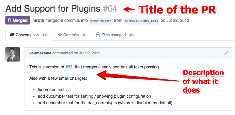 example pull request