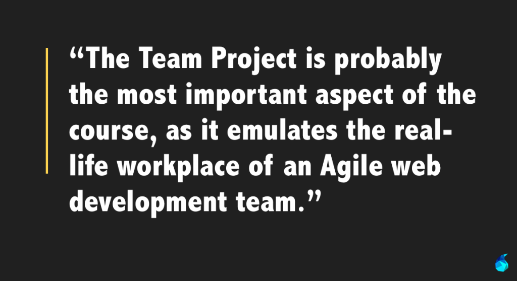 team project = most important part
