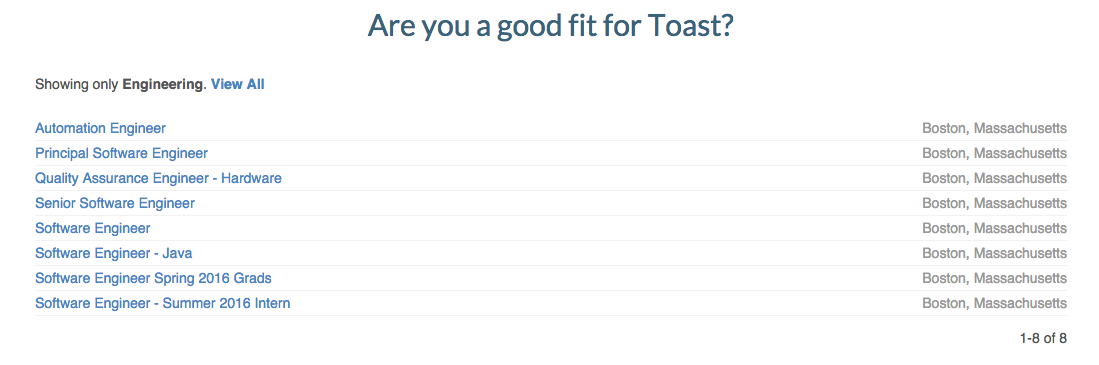 web developer jobs at toast