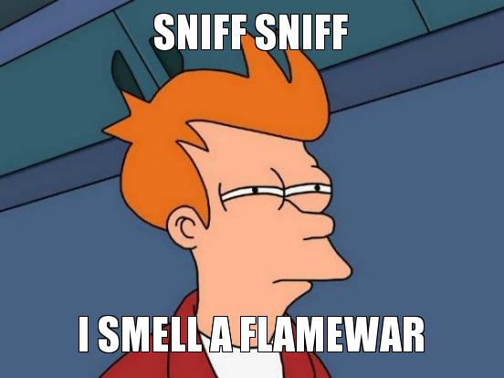 sniff sniff... tdd flamewar